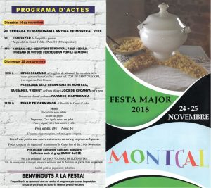 Cartell Festa Major Montcal 2018