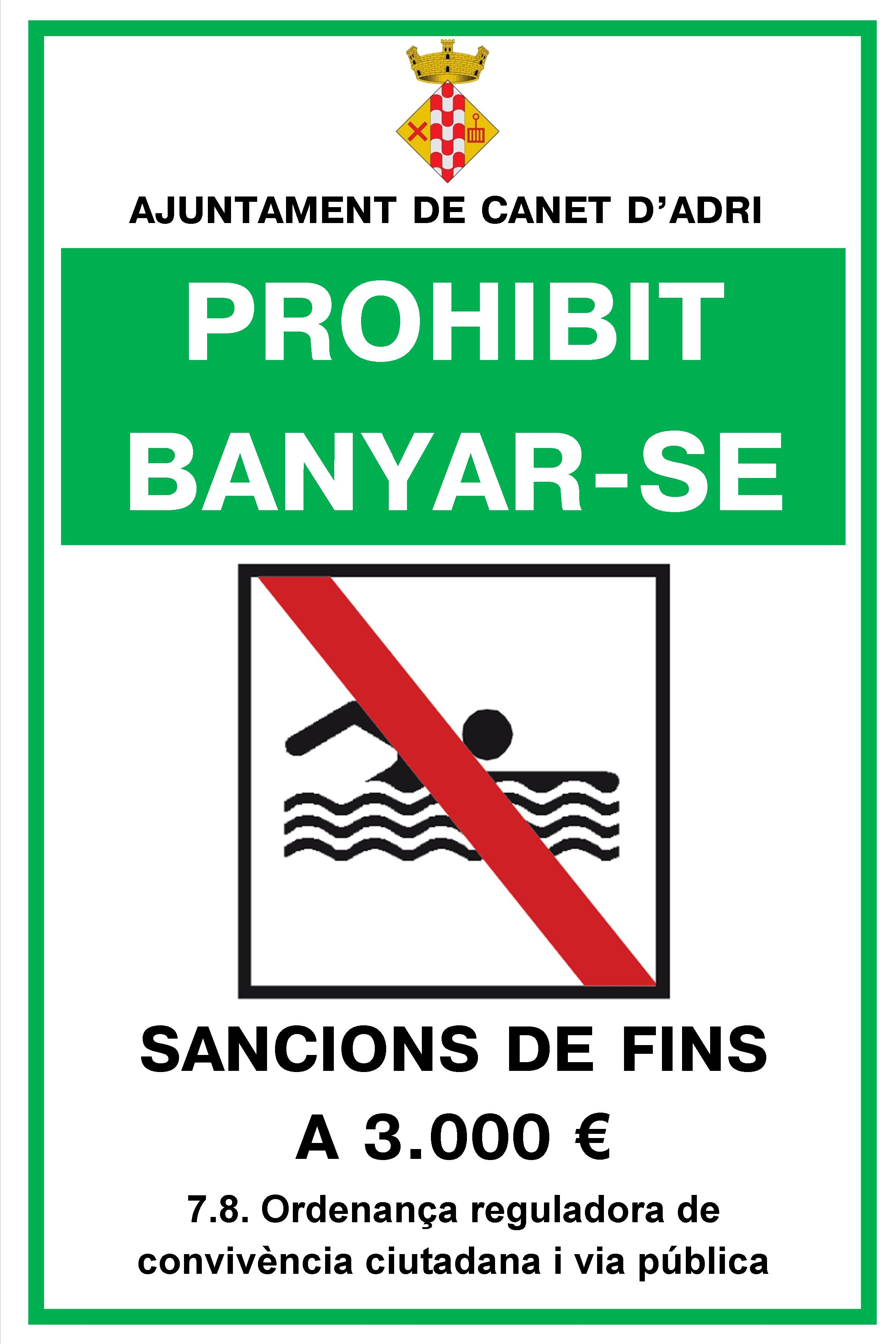 Cartell prohibit banyar-se